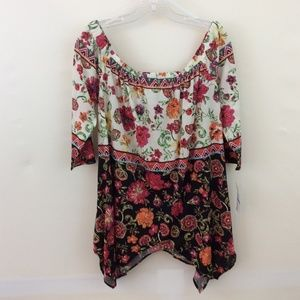ECI Women's Off the Shoulder Top, size XL